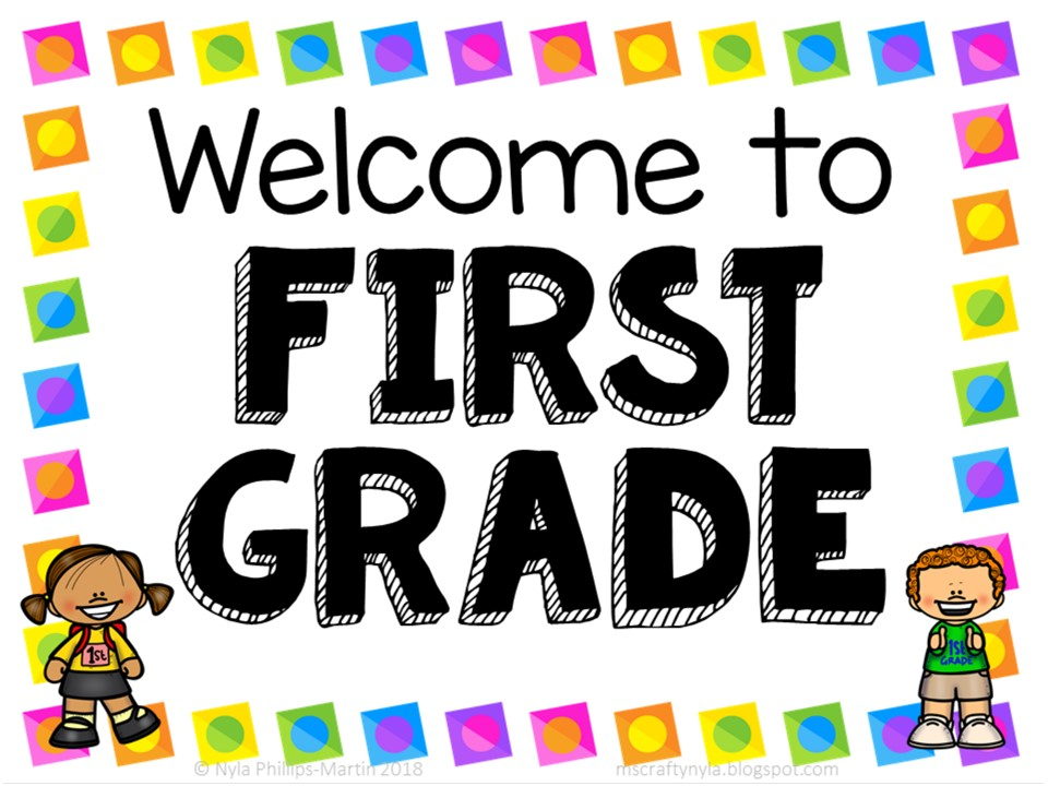 welcome to first grade sign